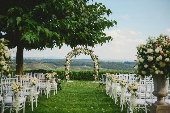 Hotel Le Fontanelle : Wedding Ceremony set up