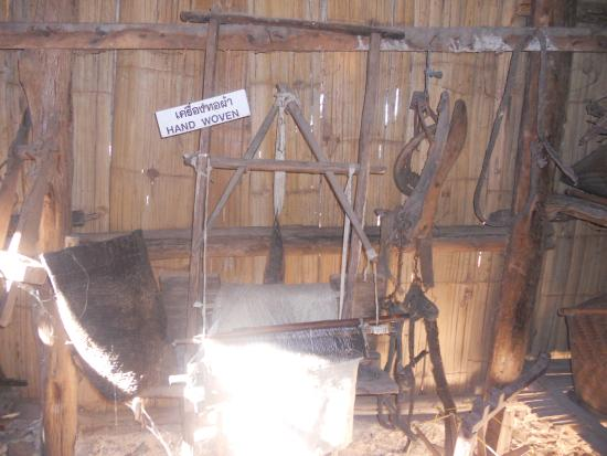 Hill Tribe Museum: loom in museum display
