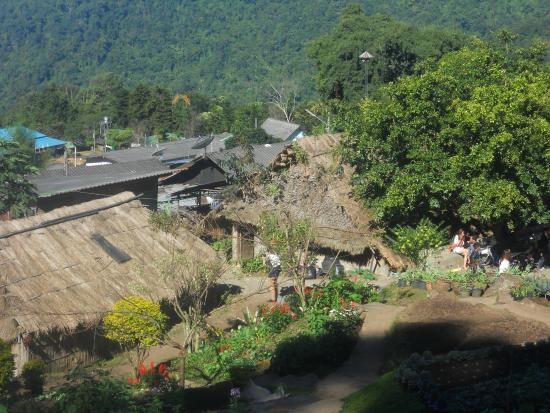 Hill Tribe Museum: view from mountain side in back of museum