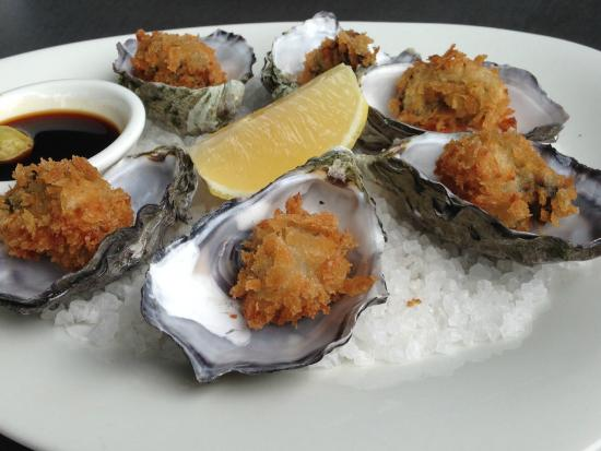 Richmond Oyster Bar: Hot Pacific oysters, Japanese panko crumbs with wasabi & soy