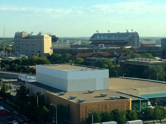 Holiday Inn Lincoln - Downtown: View from Room - Memorial Stadium