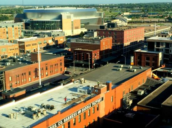 Holiday Inn Lincoln - Downtown: View from Room - Pinnacle Bank Arena and Haymarket District