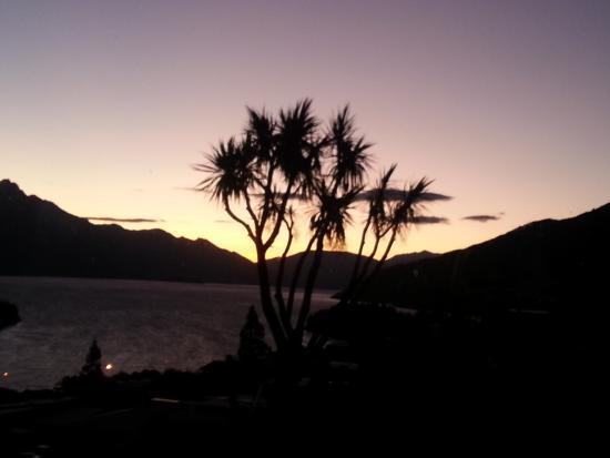 Kemnay: Sonnenuntergang aus unserem Zimmer