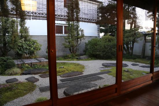 Tsurugata: beautiful gardens right outside our room