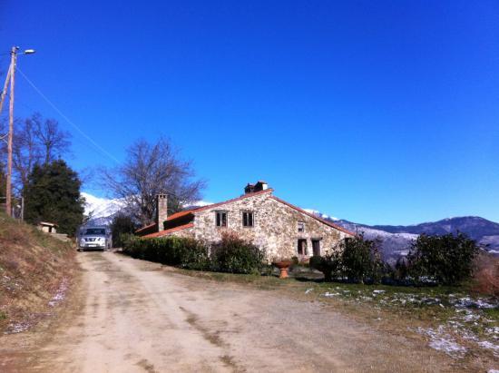 Mas El Casal : Vista casa desde camino de entrada