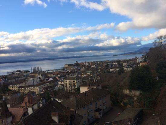 Hotel Alpes et Lac: Vue de la chambre 207