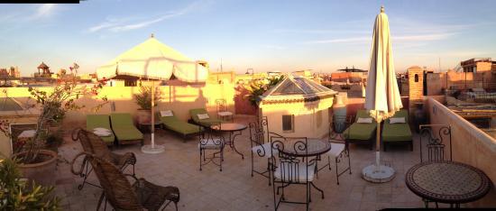 Riad Lorsya: terrace