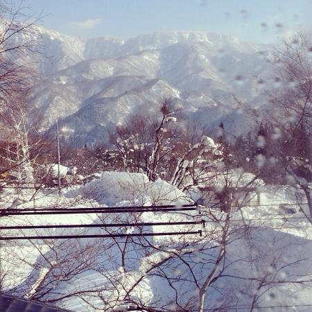 Pension Folk Tale: View from room window