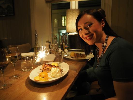 Casa Mia | Ristorante | Cucina Italiana: Bursdags-dessert på Casa Mia