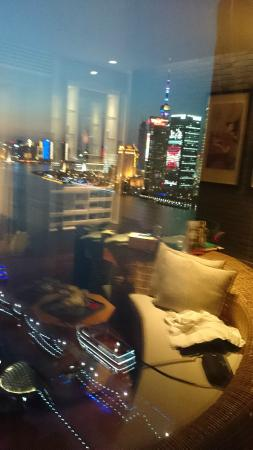 Hotel Indigo Shanghai on the Bund: view from room and reflection of some of our room