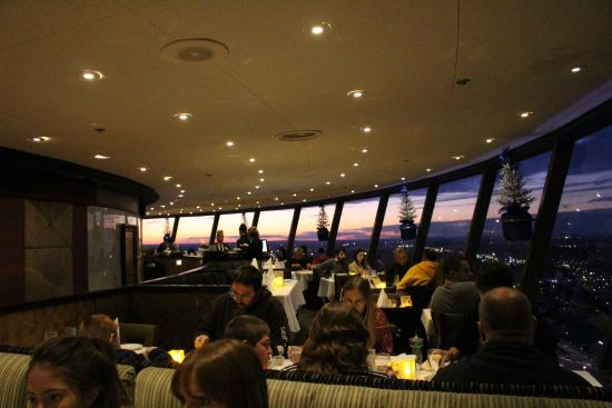 Skylon Tower Revolving Dining Room View Inside Restaurant