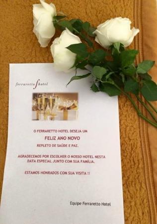 Ferraretto Hotel : Recebemos no dia 31/12/2014