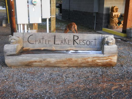 Crater Lake Resort : local talented wood carved Art