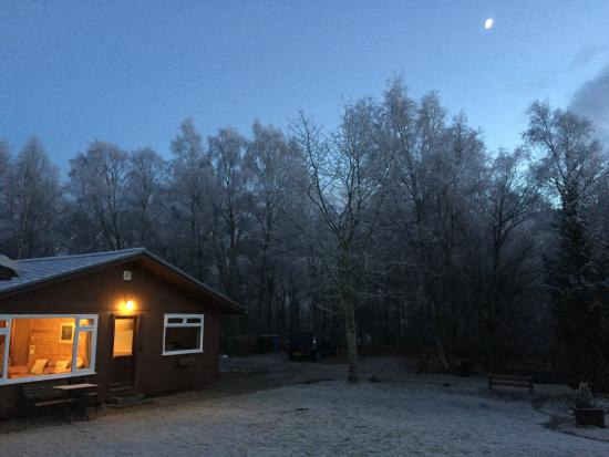 Torcroft Lodges : Lodge 5 in the frost