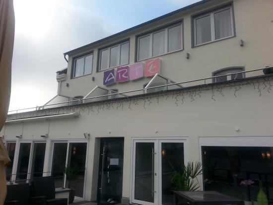 RheinHotel ARTE: Voorkant hotel, oever Rijn