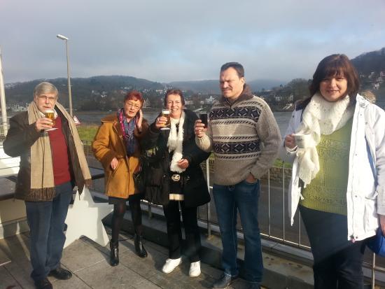 RheinHotel ARTE: Op het terras