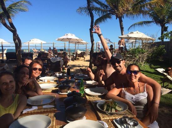 Pousada Clube de Mar: Mesa de refeição ao ar livre