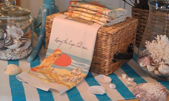 Summer House Natural Soaps: Hand printed Katz Pajamas tea towels