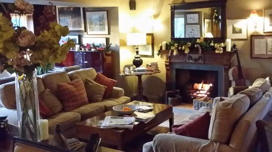 The Pheasant Hotel : another lounge with fire