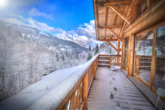 Chalet Famille: the view from the balcony