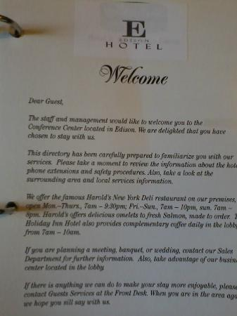 إديسون هوتل آند كونفرانس سنتر: Cheap, pasted-over book from when it was a Holiday Inn