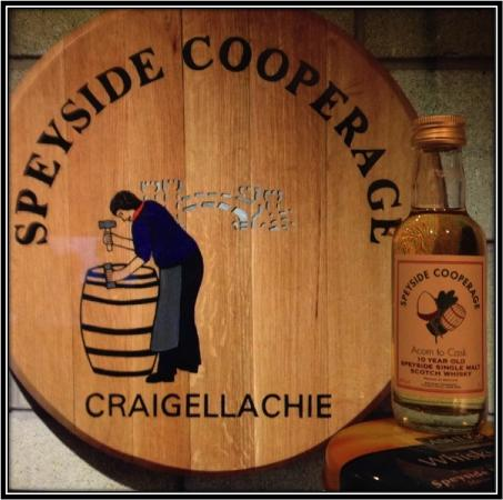 In the Gift Shop you can buy The Speyside Cooperage 10 Years, a Single Malt Speyside Whisky.