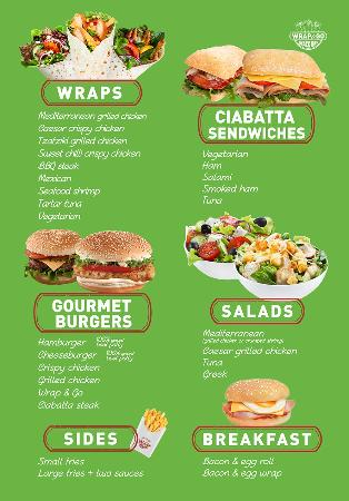 Wrap go snack bar menu picture of wrap go snack bar for Snack bar menu