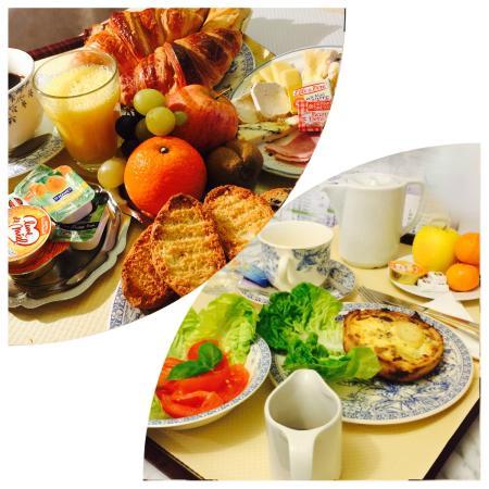 Hotel Rabelais: Petit-déjeuner/Plateau repas