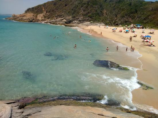 Caravelas Beach: Orla vista das pedras