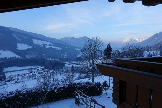 Untersussgut: View from the front room of family suite