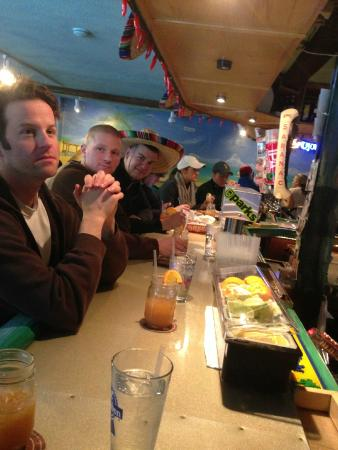 Baja Burrito Co. : Drinks at the bar with friends