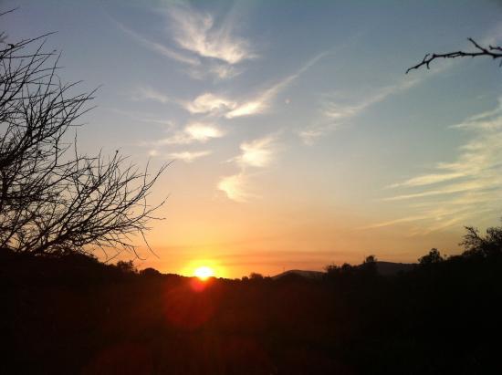 Nyaru Game Lodge: Sonnenuntergang auf Nyaru