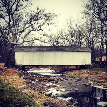 Plumsteadville, PA: Covered bridge!