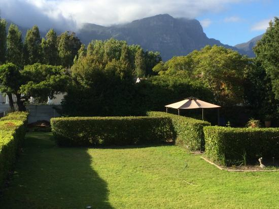 Constantia White Lodge: View from room 6 terrace