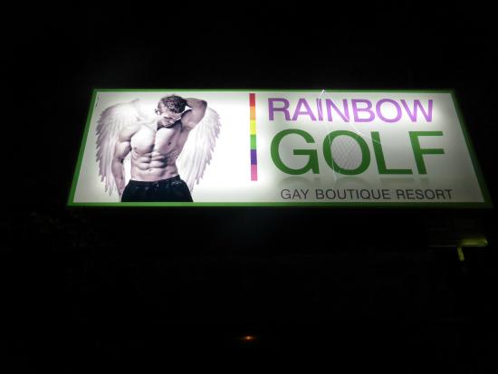 Rainbow Golf, Gay Men-only Resort: Hotel entrance