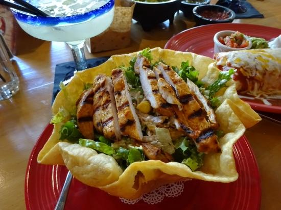 Cabo Wabo Cantina: chipotle chicken tostadas
