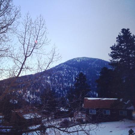 Valhalla Resort: View from the back deck in winter