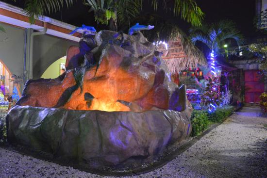 Hostel Backpackers La Fortuna: Rock fountain