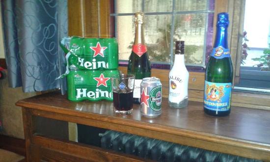 Postiljon: drankje op de kamer