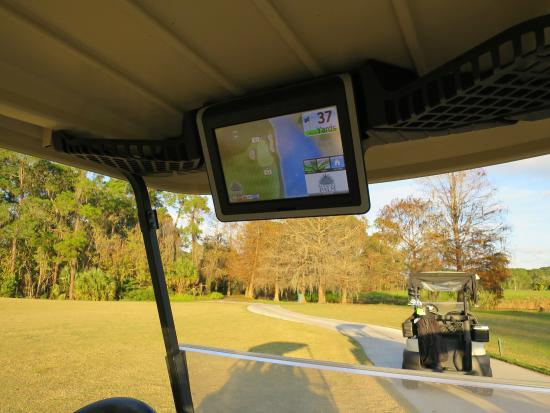 GPS in cart - Picture of Disney's Palm Golf Course, Orlando ... Golf Gps For Cart on gps for farm equipment, gps golf ball, gps for 4 wheelers, gps for jewelry, gps for boats, golf push carts, driving range golf carts, gps for hearing aids, gps for jet skis, gps for golf courses, gps for construction, gps for shoes,