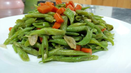 Ulu Ulu National Park Resort: Sauteed Green Beans