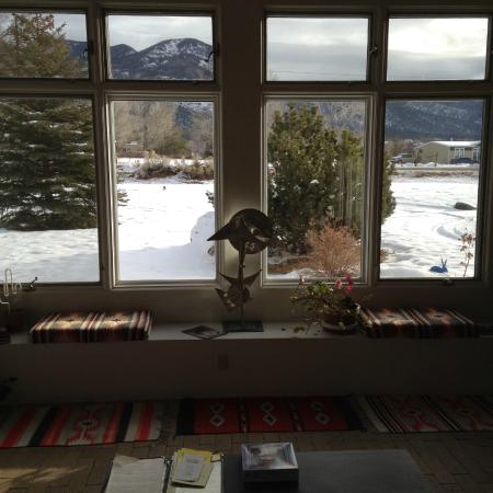 Adobe & Stars Bed and Breakfast Inn of Taos: View from hotel Living Room