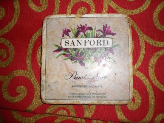 Sanford Winery & Vineyards: Nice wine coaster tile