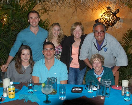 Las Mariscadas: Our fun family dinner group:  photo by our server!