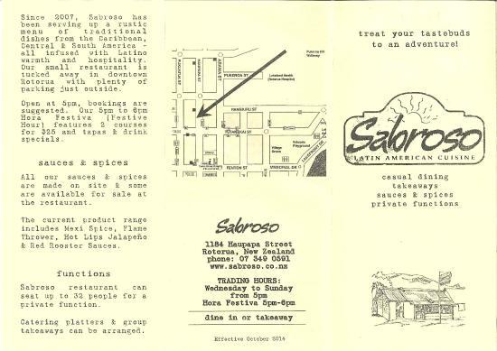 Sabroso: menu side 1