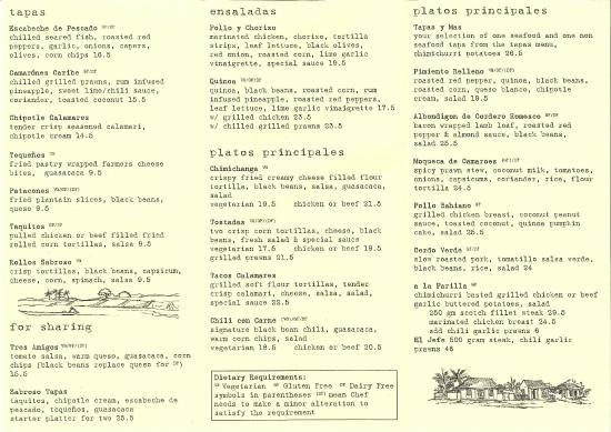 Sabroso : menu side 2