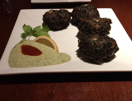 Guru Indian Restaurant And Wine Bar Spinach Pakora