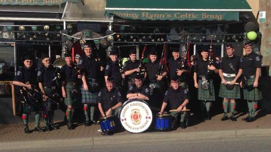 Jimmy Flynn's Celtic Snug: Our friends the Surrey Firefighters Pipe & Drum band from St. Patrick's 2013