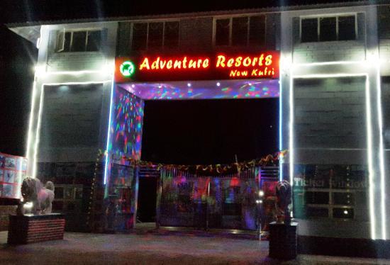 Adventure Resorts, New Kufri: Mail Entrance Gate no. 1 night view
