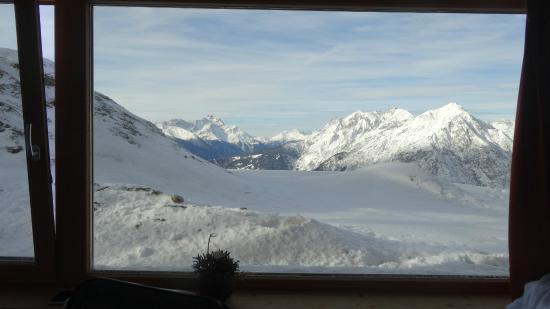 Venet Gipfelhütte: Zimmeraussicht